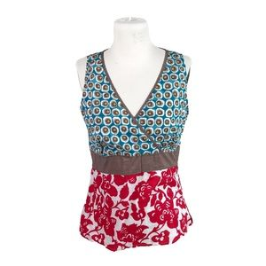 Boden US Size 10 Cotton Printed Sleeveless Top